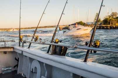 Fishing off the coast of Western Australia