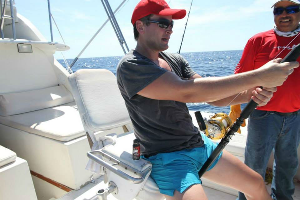 Brad catching a marlin