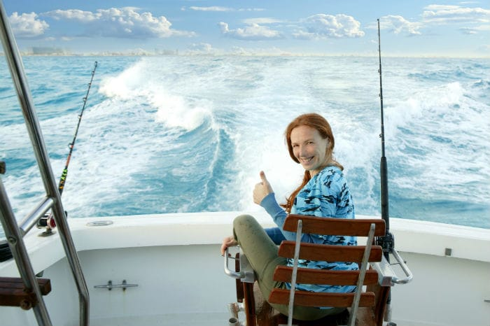 Sitting on Boat